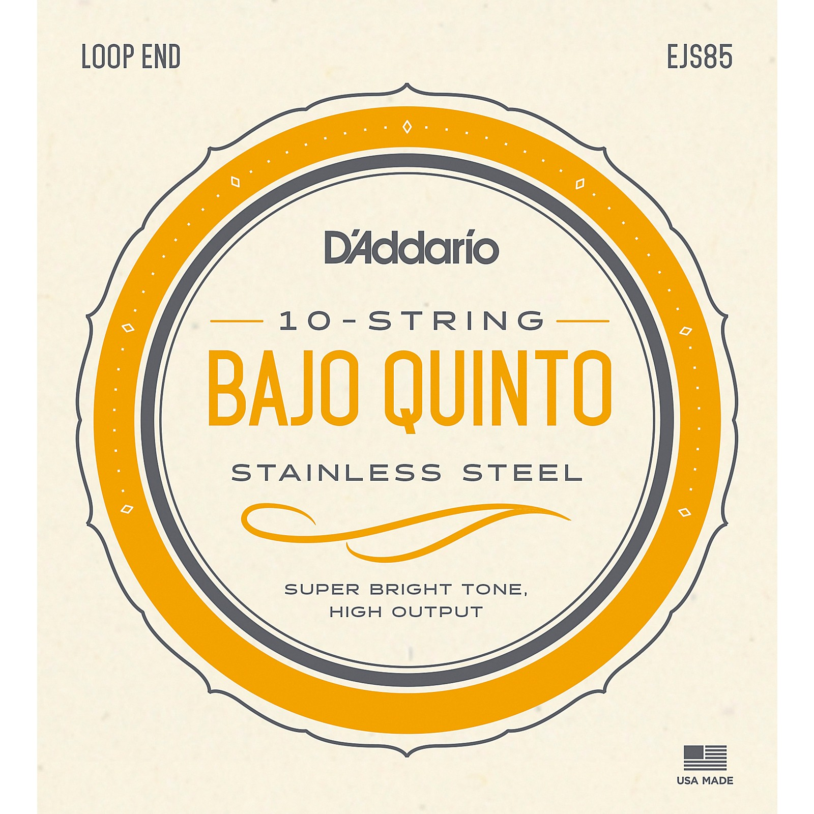 D'Addario Stainless Steel Bajo Quinto String Set