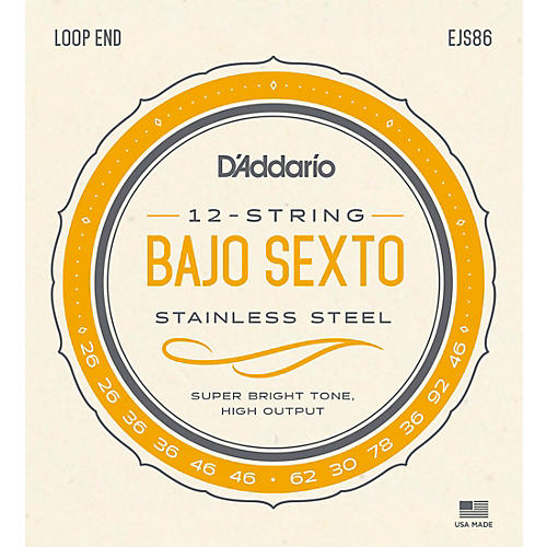 D'Addario Stainless Steel Bajo Sexto String Set