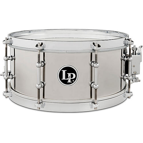 LP Stainless Steel Salsa Snare Drum 13 x 5.5 in. Stainless Steel