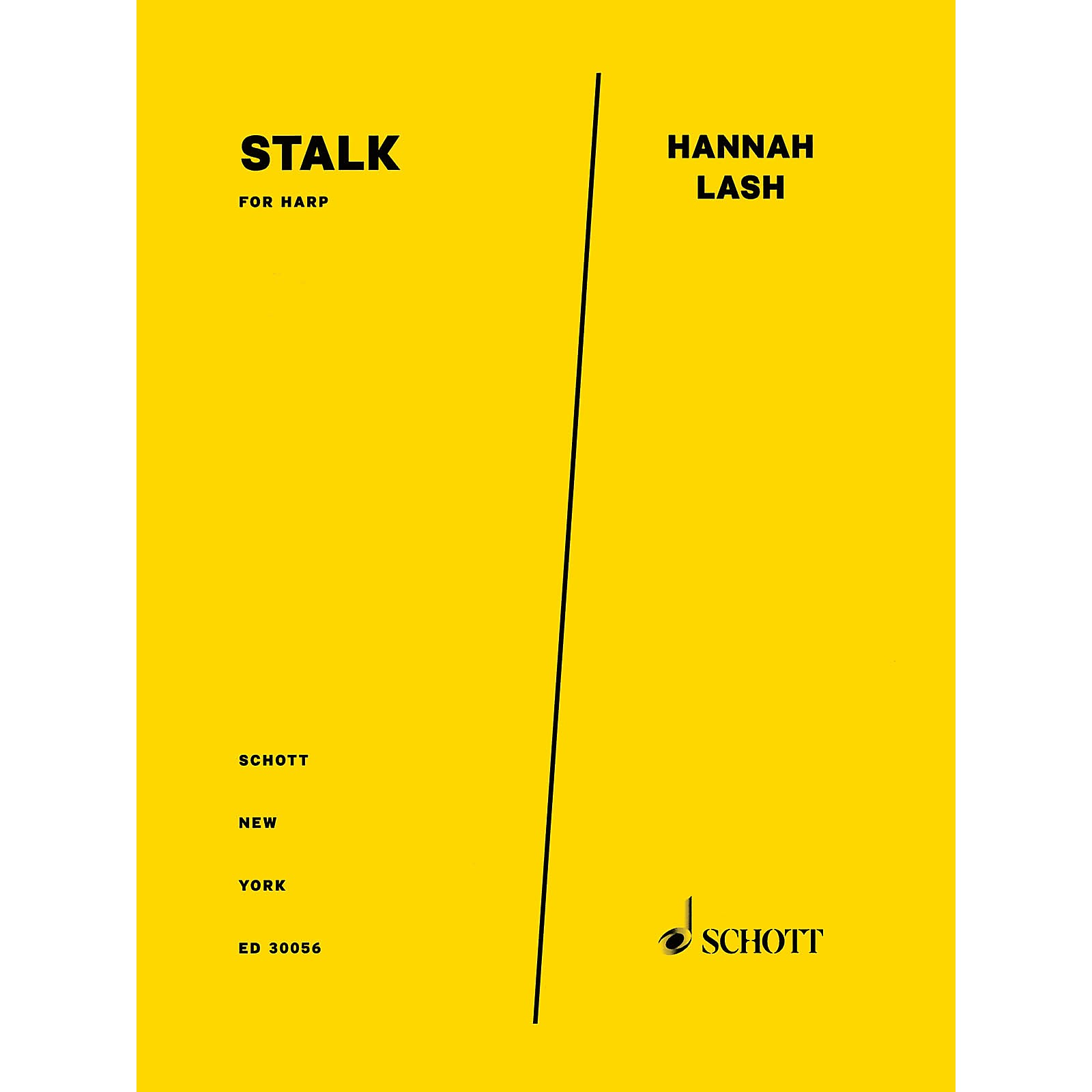 Schott Music Corporation New York Stalk (for Harp) Instrumental Solo Series