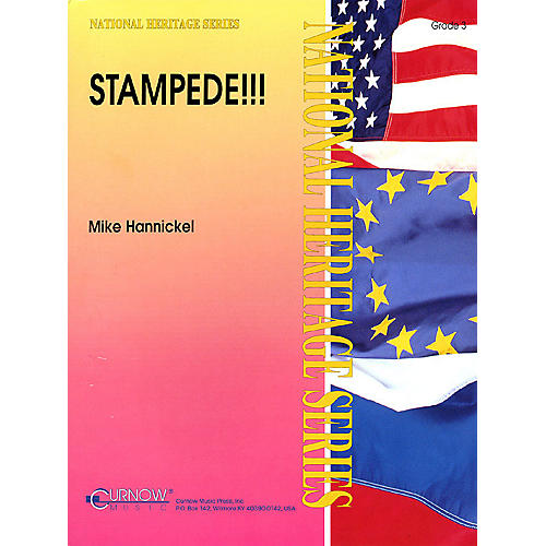 Curnow Music Stampede!! (Grade 3 - Score Only) Concert Band Level 3 Composed by Mike Hannickel