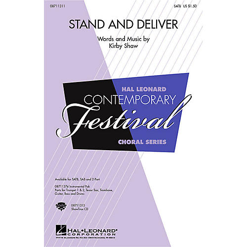 Hal Leonard Stand and Deliver ShowTrax CD Composed by Kirby Shaw