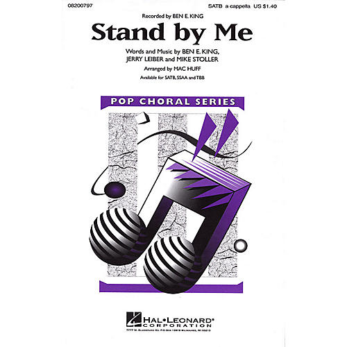 Hal Leonard Stand by Me SATB a cappella by Ben E. King arranged by Mac Huff
