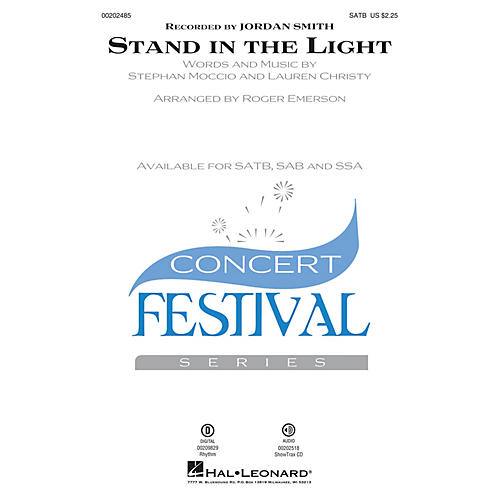 Hal Leonard Stand in the Light SATB arranged by Roger Emerson