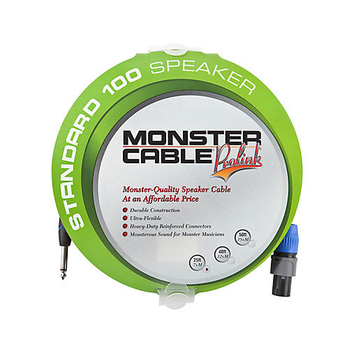 Monster Cable Standard 100 Speaker Cable with SpeakOn Connectors - 1/4