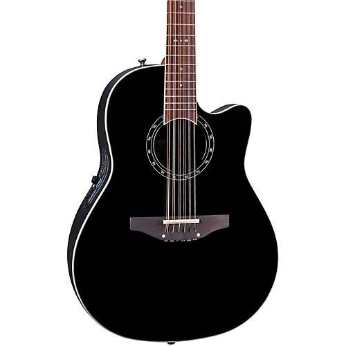 ovation standard balladeer 2751 ax 12 string acoustic electric guitar black musician 39 s friend. Black Bedroom Furniture Sets. Home Design Ideas