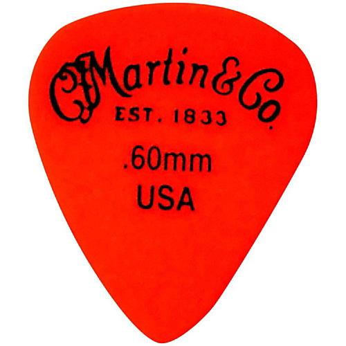 Martin Standard Delrin Guitar Pick Orange 60mm 72 Pieces