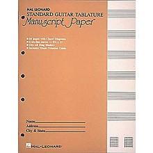 Hal Leonard Standard Guitar Tablature Manuscript Paper