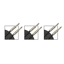 Musician's Gear Standard Instrument Cable Black and Silver Tweed - 20 ft. - 3 Pack
