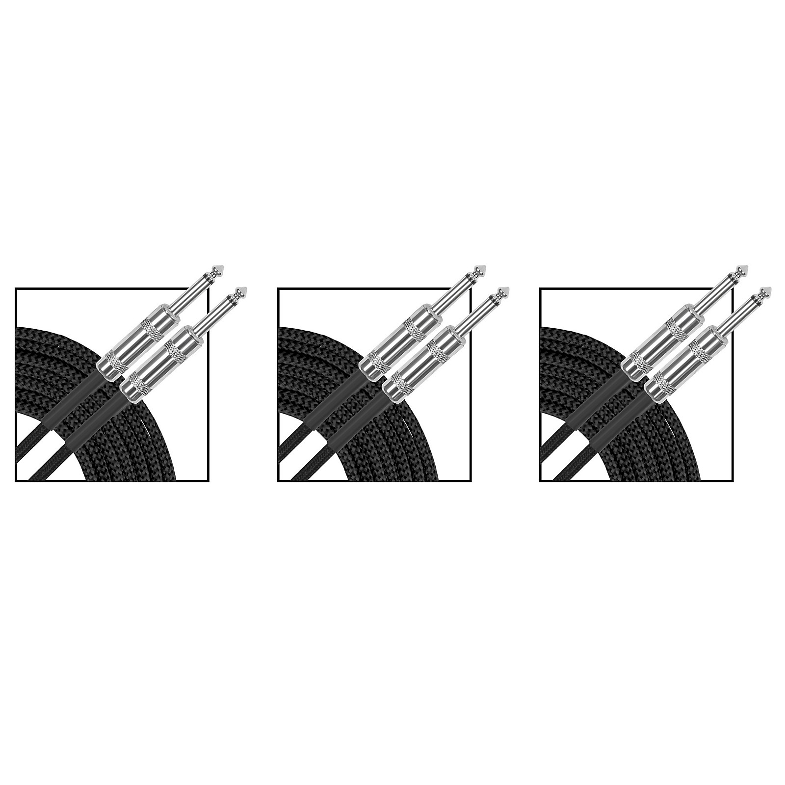 Musician's Gear Standard Instrument Cable Braid - 20 ft. - 3 Pack
