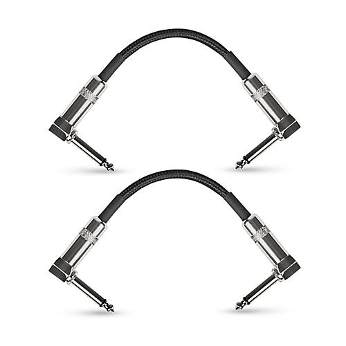 Musician's Gear Standard Instrument Patch Cable-6 in.-Black (2 Pack)