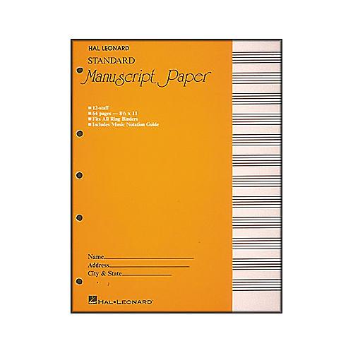 Hal Leonard Standard Manuscript Paper (8 1/2