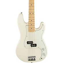 Standard Precision Bass Guitar Arctic White Gloss Maple Fretboard