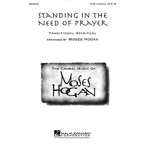 Hal Leonard Standing in the Need of Prayer SATB a cappella arranged by Moses Hogan