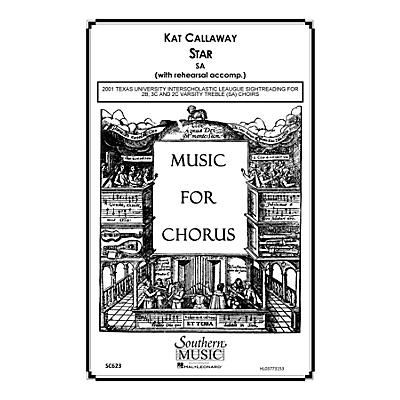 Hal Leonard Star (Choral Music/Octavo Sacred Sa) SA Composed by Callaway, Kat
