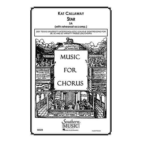 Hal Leonard Star (Choral Music/Octavo Sacred Sa) SA Composed by Callaway, Kat