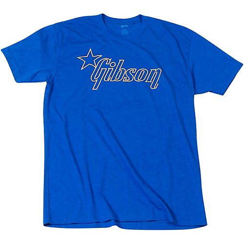 Gibson Star Logo T-Shirt X Large Blue
