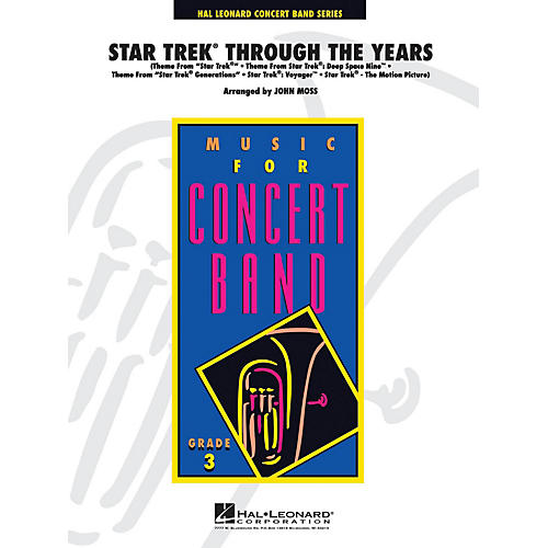 Hal Leonard Star Trek Through the Years - Young Concert Band Series Level 3 arranged by John Moss