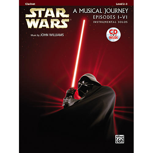Alfred Star Wars Clarinet Instrumental Solos (Movies I-VI) Book & CD