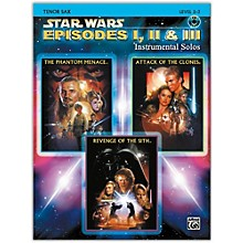 Alfred Star Wars: Episodes I, II & III Instrumental Solos Tenor Sax Book & CD