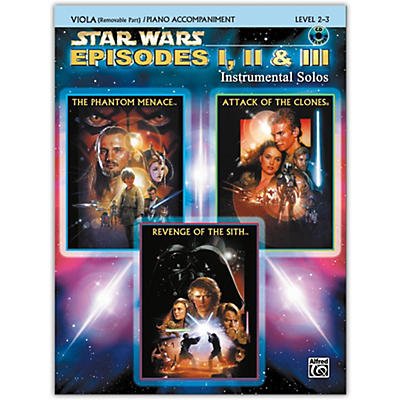 Alfred Star Wars: Episodes I, II & III Instrumental Solos for Strings Viola Book & CD