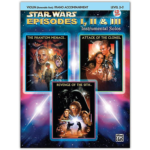 Alfred Star Wars: Episodes I, II & III Instrumental Solos for Strings Violin Book & CD