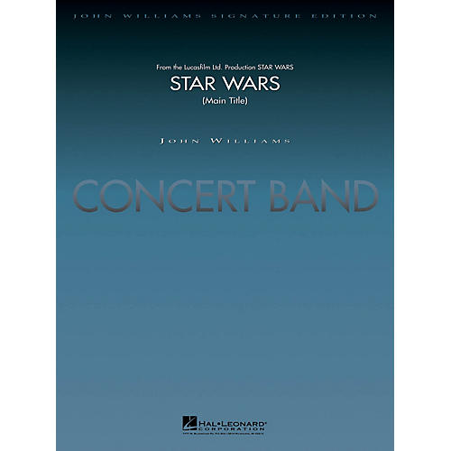 Hal Leonard Star Wars (Main Theme) (Deluxe Score) Concert Band Level 5-6 Arranged by Stephen Bulla