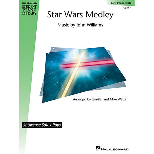 Hal Leonard Star Wars Medley Piano Library Series Book by John Williams (Level Early Inter)