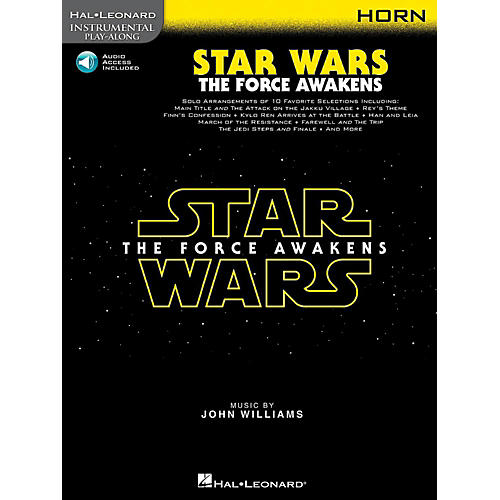 Hal Leonard Star Wars: The Force Awakens For Horn - Instrumental Play-Along Book/Online Audio