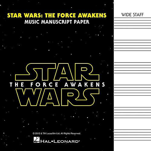 Hal Leonard Star Wars: The Force Awakens Manuscript Paper