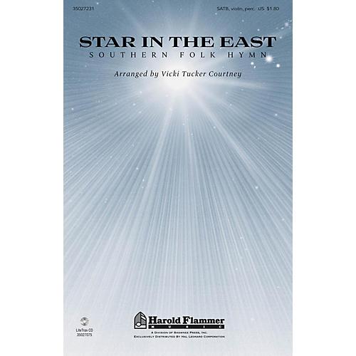 Shawnee Press Star in the East SATB, VIOLIN, TRIANGLE, TAMB. arranged by Vicki Tucker Courtney
