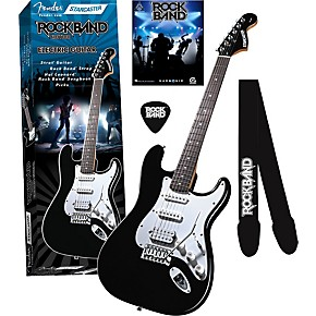 fender starcaster strat rock band electric guitar value pack musician 39 s friend. Black Bedroom Furniture Sets. Home Design Ideas