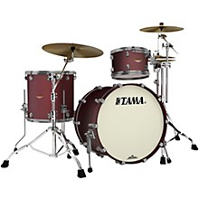 Starclassic Bubinga 3-Piece Shell Pack with Smoked Black Nickel Hardware Flat Burgundy Metallic