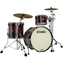 Starclassic Bubinga 3-Piece Shell Pack with Smoked Black Nickel Hardware Volcanic Red Burst