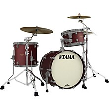 Starclassic Maple 3-Piece Shell Pack with Smoked Black Nickel Hardware and 20 in. Bass Drum Flat Burgundy Metallic