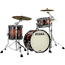 Starclassic Maple 3-Piece Shell Pack with Smoked Black Nickel Hardware and 20 in. Bass Drum Molten Satin Brown Burst