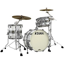 Starclassic Maple 3-Piece Shell Pack with Smoked Black Nickel Hardware and 20 in. Bass Drum Silver Snow Racing Stripe