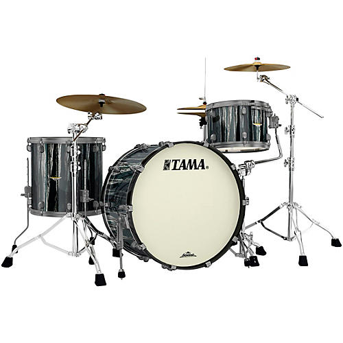 TAMA Starclassic Maple 3-Piece Shell Pack with Smoked Black Nickel Hardware and 24 in. Bass Drum