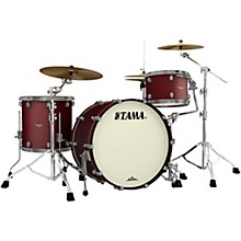 Starclassic Maple 3-Piece Shell Pack with Smoked Black Nickel Hardware and 24 in. Bass Drum Flat Burgundy Metallic