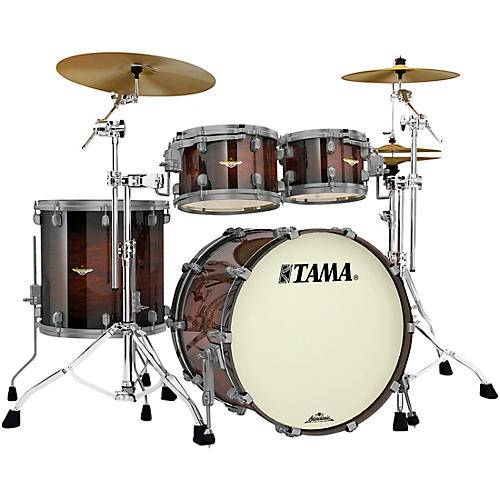 TAMA Starclassic Maple 4-Piece Shell Pack with Smoked Black Nickel Hardware and 22
