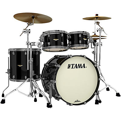 "TAMA Starclassic Maple 4-Piece Shell Pack with Smoked Black Nickel Hardware and 22"" Bass Drum"