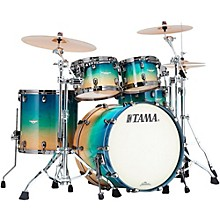 Starclassic Maple Exotix 4-Piece Shell Pack Caribbean Sea Blue Fade Figured