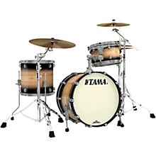 Starclassic Maple Exotix Pacific Walnut 3-Piece Shell Pack with Smoked Black Nickel Hardware and 20