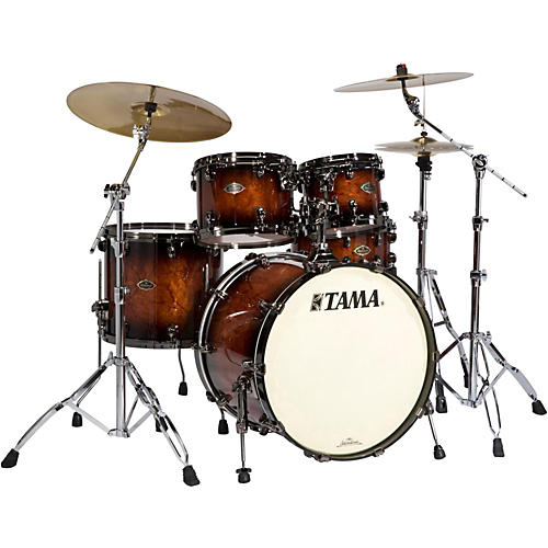 TAMA Starclassic Performer B/B 4-Piece Shell Pack with Quilted Bubinga Outer Ply