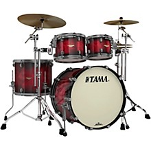 TAMA Starclassic Quilted Bubinga Exotix 4-Piece Shell Pack with Smoked Black Nickel Hardware