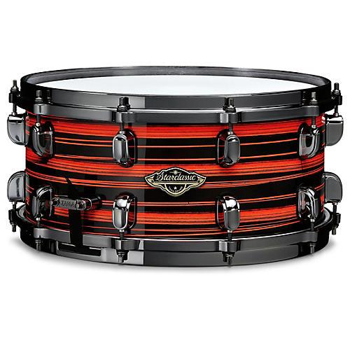 TAMA Starclassic Walnut/Birch Snare Drum 14 x 6.5 in. Neon Orange Oyster