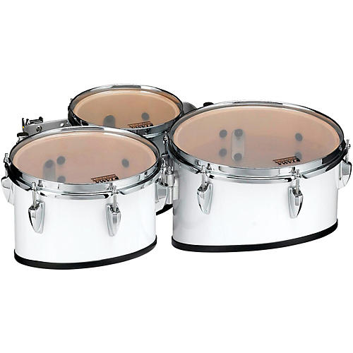 Tama Marching Starlight Marching Tenor Drums Trio with Carrier 8, 10, 12 in. Sugar White