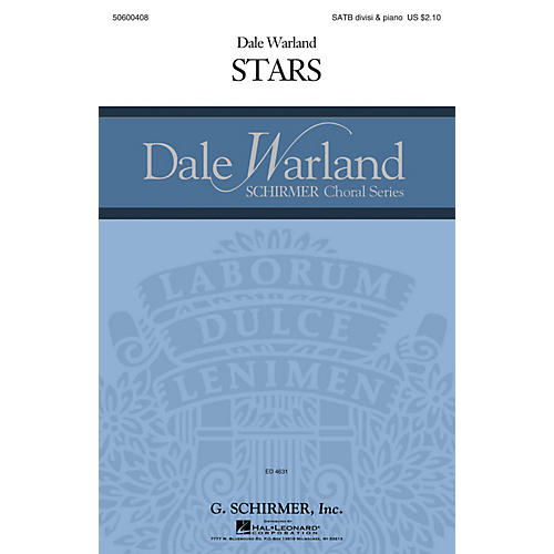 G. Schirmer Stars (Dale Warland Choral Series) SATB composed by Dale Warland