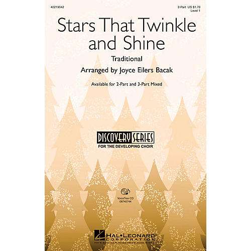 Hal Leonard Stars That Twinkle and Shine 3-Part Mixed Arranged by Joyce Eilers