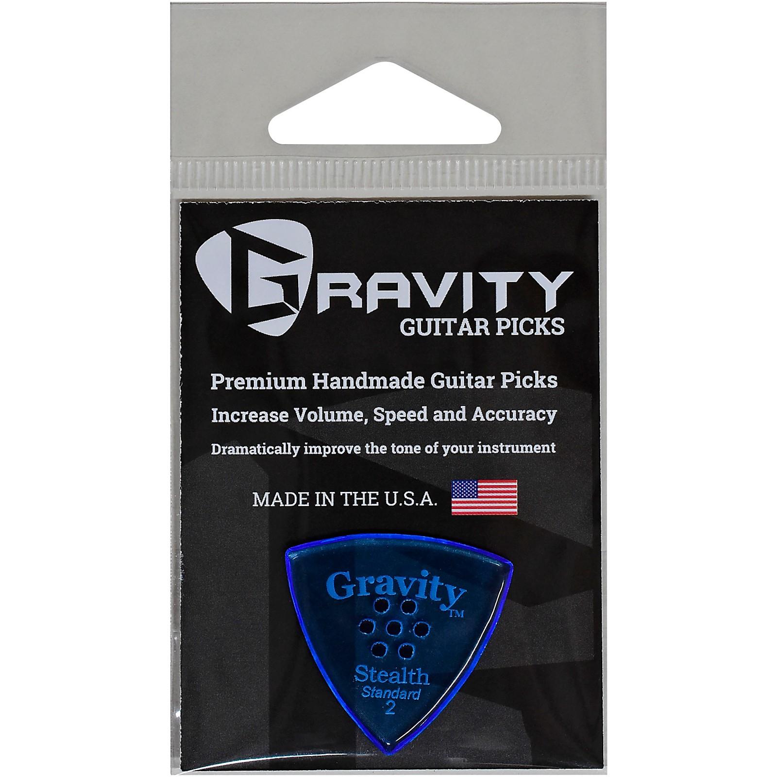 GRAVITY PICKS Stealth Standard Polished Blue Multi-Hole Guitar Picks